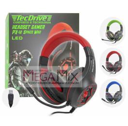 Fone de Ouvido Headset Gamer (USB + P2) PX-12 - TecDrive