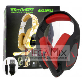 Fone de Ouvido Headset Gamer (P2 + USB) PX-7 - TecDrive