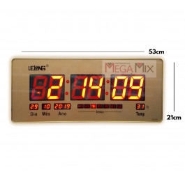 Relógio de Parede Digital Led LE-2117 - Lelong