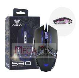 Mouse Gamer com fio USB 2400 DPI S30 - Aula