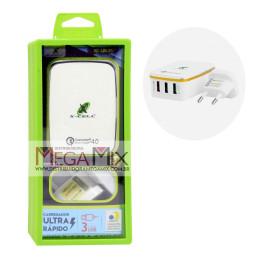 Carregador de Parede 3 USB 65.1A Ultra Rápido XC-UR-21 - X-Cell