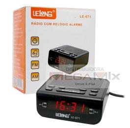 Rádio Relógio com Alarme LE-671 - Lelong