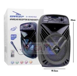 Caixa de Som Bluetooth 15W D-BH6102 - Grasep