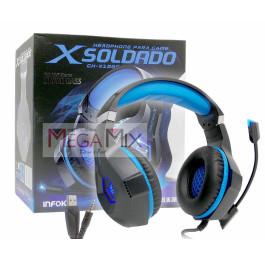 Fone de Ouvido Headset Gamer X Soldado GH-X1000 - Infokit
