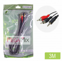 Cabo P2 + 2 RCA 3M XC-P2ST-2RCA-3M - X-cell