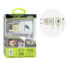 Carregador de Celular - Micro USB (V8) 5V 2.0A XC-V8-LED - X-cell