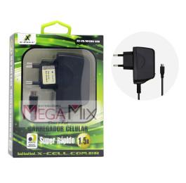 Carregador de Celular - Micro USB (V8) 5V 1.5A XC-V8 (blister) Caixinha - X-cell