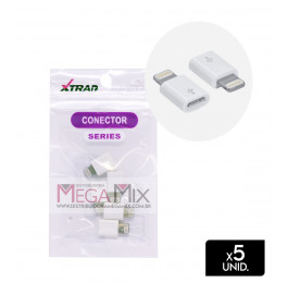 Conector Micro USB (V8) para Iphone XT-2199 - Xtrad